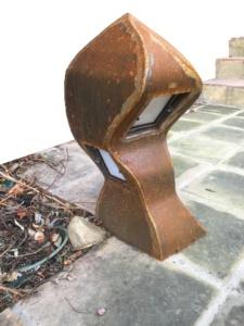 Làmpades jardí en Acer corten oxidat